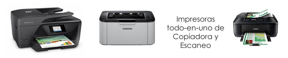 Impresoras todo-en-uno de Copiadora y Escaneo