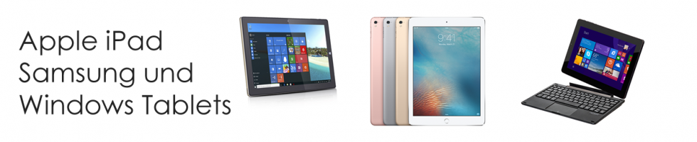 Apple iPad, Samsung und Windows-Tablets