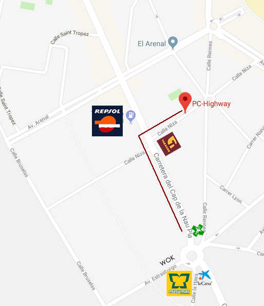 How can you find us? The way to our showroom PC-HIGHWAY